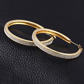 povoljno Naušnice-Žene Okrugle naušnice dragocjen slatko Moda Naušnice Jewelry Zlato / Srebro Za Dnevno Rad 1 par