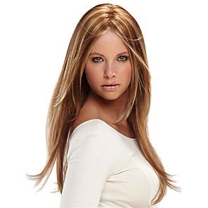 ieftine Peruci & Extensii de Păr-Peruci Sintetice Natural Drept Partea centrală Perucă Lung Căpșună Blonde / Light Blonde Păr Sintetic 16 inch Pentru femei Petrecere Dame Maro