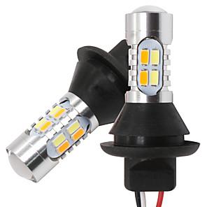 hesapli Gündüz Yanan Işıklar-1156 p21w py21w ba15s bau15s 20led t20 w21w wy21w 7440 ışık gündüz çalışan ışıklı sinyal çift modlu drl led dış ışıklar