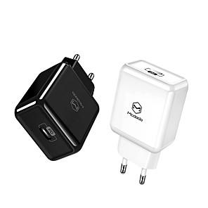 abordables Câbles USB-eu / usa adaptateur usb type c pd 18 w chargeur usb rapide charge téléphone mobile usb pour iphone macbook samsung xiaomi huawei