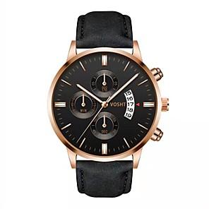 ieftine Ceasuri Damă-Bărbați Ceas Brățară Quartz Stl PU piele Negru / Maro 30 m Ceas Casual Analog Modă - Negru Maro Roz auriu Un an Durată de Viaţă Baterie