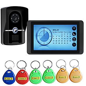 povoljno Kutija i prikaz nakita-620fgid11 žičana budilica / ugrađeni zvučnik / RFID 7-inčni handsfree 800 * 480 piksela jedan do jedan video portafon