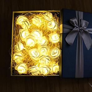 ieftine Cârlige Pescuit-6m Fâșii de Iluminat 40 LED-uri Alb Cald / Roz Petrecere / Decorativ / Nuntă Baterii AA alimentate 1set