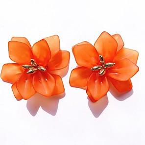 ieftine Colier la Modă-Pentru femei Cercei Stud Floare Stilat Reșină cercei Bijuterii Alb / Portocaliu / Albastru Pentru Zilnic 1 Pair