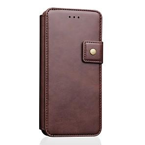 ieftine Imbracaminte & Accesorii Căței-Maska Pentru Apple iPhone XS / iPhone XR / iPhone XS Max Portofel / Titluar Card / Cu Stand Carcasă Telefon Mată Piele autentică