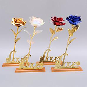 ieftine Păpuși-24k folie de aur a crescut cu ziua de naștere a zilei de Valentine's Day cadou de valentine unică floare