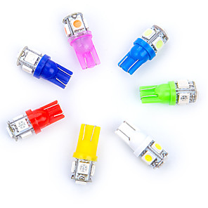 hesapli Gündüz Yanan Işıklar-10 adet w5w led t10 led ampuller 5 smd 5050 led 194 168 araba yan kama kuyruk ışık lamba ampul otopark için led plaka lights4.7