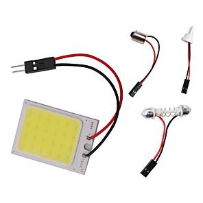 저렴한 LED 제품-1pc t10 ba9s 꽃 봉오리 돔 라이트 자동차 개 암 나무 빛 led가 패널 조명 dc 12v 3w 흰색 3 어댑터 자동차 자동차 인테리어 독서지도 램프