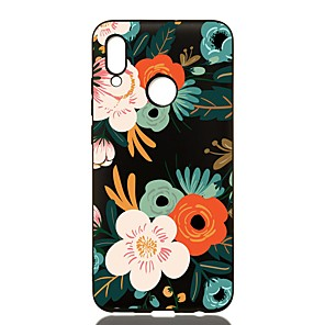 Недорогие Чехлы и кейсы для Huawei-чехол для huawei p20 / p20 pro / p20 lite противоударный / матовый / с рисунком задняя крышка flower tp soft для huawei p smart 2019 / p30 / p30 pro / p30 lite / p smart plus / p8 lite 2017 / p9 lite