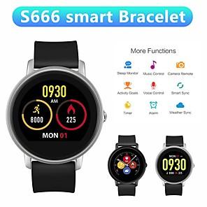 levne IP kamery-s666 chytré hodinky srdeční frekvence monitor fitness tracker ženy muži bluetooth smartwatch ip67 vodotěsné hodiny elegantní kapela hodinky.
