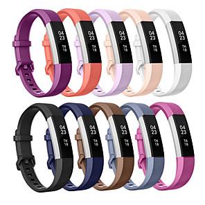 Недорогие Ремешки для спортивных часов-Ремешок для часов для Fitbit Alta HR / Fitbit Ace / Fitbit Alta Fitbit Спортивный ремешок / Классическая застежка / Современная застежка силиконовый Повязка на запястье