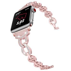 Недорогие Ремешки для Apple Watch-женский браслет ремешок для яблока ремешок для часов 38мм / 42мм / 40мм / 44мм алмазный браслет из нержавеющей стали для iwatch 4/3/2/1 металл