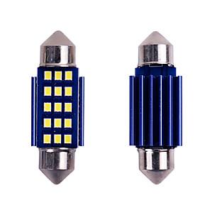 ieftine Becuri De Mașină LED-10pc festoon canbus c5w a condus lumina interioară 31mm 36mm 39mm 41mm 12smd 2016 jetoane condus masina dom gratuit fără eroare auto lampă de citit 12v