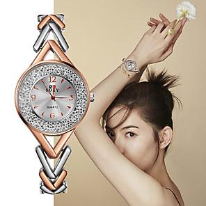ieftine Cuarț ceasuri-Pentru femei Quartz Quartz Stil Oficial Stl Oțel inoxidabil Negru / Argint / Auriu Ceas Casual Analog Modă Elegant - Negru Argintiu Roz auriu Un an Durată de Viaţă Baterie