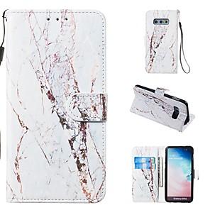 ieftine USB-uri-Maska Pentru Samsung Galaxy S9 / S9 Plus / S8 Plus Portofel / Titluar Card / Cu Stand Carcasă Telefon Marmură Greu PU piele