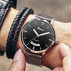 ieftine Ceasuri Bărbați-Bărbați Ceas Elegant Quartz Stil modern Stl Oțel inoxidabil Negru / Argint 30 m Rezistent la Apă Calendar Ceas Casual Analog Casual Modă - Argintiu Roz auriu Negru / Argintiu Un an Durată de Via