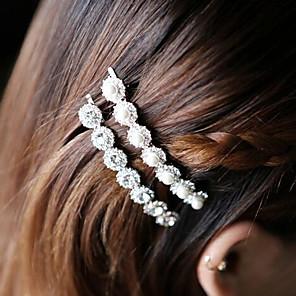 ieftine Bijuterii de Păr-Pentru femei Pentru Zilnic Casul / Zilnic Imitație de Perle Zirconiu Cubic Aliaj Alb Argintiu 1 buc