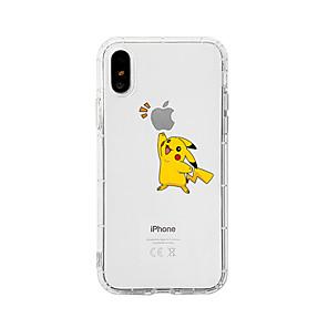 ieftine Carcase iPhone-Maska Pentru Apple iPhone XS / iPhone XR / iPhone XS Max Anti Șoc / Anti Praf / Transparent Capac Spate Transparent / Desene Animate TPU