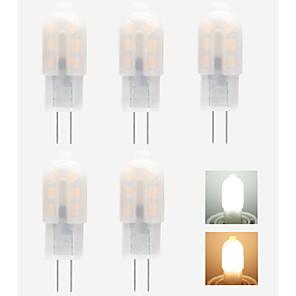ieftine Becuri LED Bi-pin-5pcs 1 W Becuri LED Bi-pin 90 lm G4 T 5 LED-uri de margele SMD 2835 Model nou Alb Cald Alb 220-240 V 12 V
