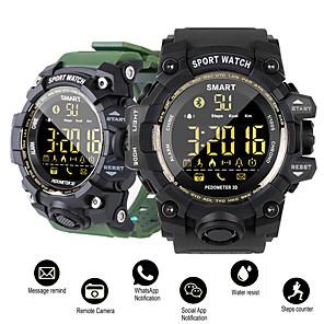 ieftine Cititor Carduri-dm02 inteligent ceas sport passometer mesaj memento ip68 impermeabil bluetooth bărbați / femei smartwatch pentru ios și android