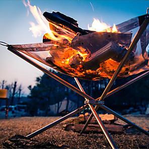 ieftine Bucătărie Camping-Camping Fire Pit Simplu Portabil Multifuncțional Durabil Oxford 304 Oțel Inoxidabil pentru 3-4 persoane În aer liber Camping & Drumeții Voiaj Picnic Alb