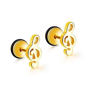 ieftine Cercei-Bărbați Pentru femei Cercei Stil Vintage Notă Muzicală Artistic cercei Bijuterii Negru / Auriu / Argintiu Pentru Zilnic Concediu 1 Pair