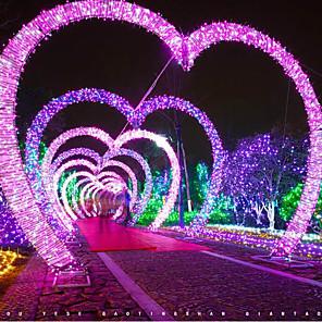 ieftine Lumini Nocturne LED-20m Fâșii de Iluminat 200 LED-uri 1 buc Alb Cald Albastru Multicolor Decorativ 220-240 V