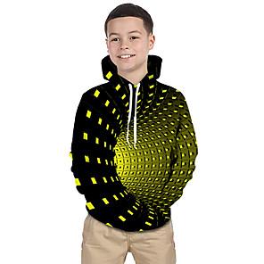 povoljno Muški satovi-Djeca Dijete koje je tek prohodalo Dječaci Aktivan Osnovni Magične kocke Geometrijski oblici Galaksija 3D Print Dugih rukava Trenirka s kapuljačom Crn