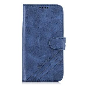 저렴한 Huawei 케이스 / 커버-케이스 제품 Huawei 화웨이 노바 4e / Huawei P20 / Huawei P20 Pro 지갑 / 카드 홀더 / 스탠드 전체 바디 케이스 솔리드 PU 가죽