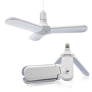 זול אוזניות קוויות-e27 הנורה הוביל סופר מאוורר מתקפל זווית להב מאוורר מנורת תקרה מתכווננת בית חיסכון באנרגיה 36 w