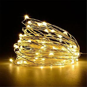 ieftine Fâșii Becurie LED-10m Fâșii de Iluminat 100 LED-uri Alb Cald Alb Roșu Creative Petrecere Nuntă Alimentat USB