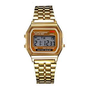 ieftine Broșe-Bărbați Ceas Elegant Ceas Brățară Ceas de Mână Digital Oțel inoxidabil Argint / Auriu Ceas Casual Piloane de Menținut Carnea Charm - Argintiu Auriu