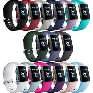 Недорогие Ремешки для спортивных часов-Ремешок для часов для Fitbit Charge 3 Fitbit Современная застежка силиконовый Повязка на запястье