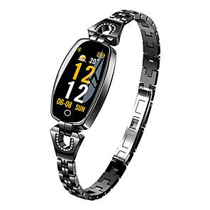 hesapli Akıllı Saatler-H8 smart watch kadınlar 2018 android ios için su geçirmez nabız izleme bluetooth izci spor bilezik smartwatch