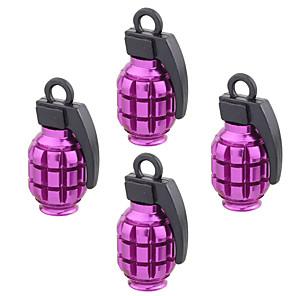 ieftine USB-uri-4 buc bucătărie din aluminiu în formă de zaruri auto capac de supapă capac de praf accesorii auto