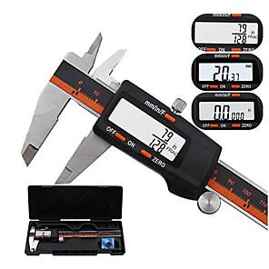 ieftine Microscop & Endoscop-Daniu 150mm din oțel inoxidabil ecran LCD afișare etrier digital 6 inch fracțiune / mm / inch înaltă precizie din oțel inox lcd vernier etrier