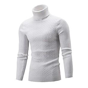 ieftine Bluze de Bărbați și Cardigane-Bărbați Mată Plover Manșon Lung Pulover Cardigans Guler Pe Gât Toamnă Iarnă Roșu Vin Alb Negru