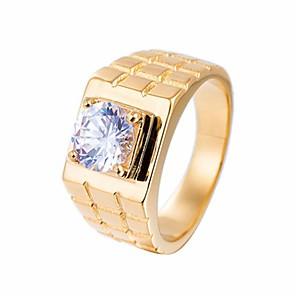 povoljno Prstenje-Muškarci Band Ring Prsten 1pc Zlato Srebro Titanium Steel Cirkularno Vintage Osnovni Moda Obećanje Jewelry