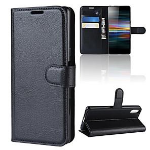 ieftine Carcase / Huse de Sony-carcasă pentru sony xperia 10 / sony xperia 10 plus portofel / suport pentru card / flip