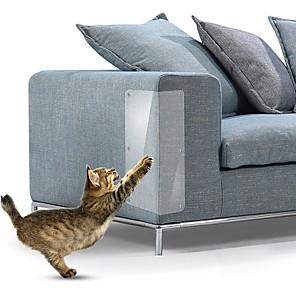 preiswerte -4 Stück 14 * 48cm Couch Katzenkratzschutz Mattenschaber Kratzbaum Kratzkralle Pfostenschutz Sofa für Katzen Kratzer Pfotenpolster Haustiermöbel