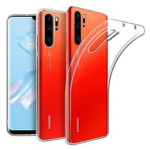 Недорогие Чехлы и кейсы для Huawei-Кейс для Назначение Huawei Huawei P30 / Huawei P30 Pro Ультратонкий / Матовое Кейс на заднюю панель Однотонный ТПУ
