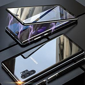 Недорогие Чехол Samsung-магнитный адсорбционный двухсторонний стеклянный корпус для Samsung Galaxy Note 10 Pro Note 10 задняя крышка для Samsung Galaxy Note 9 Note 8