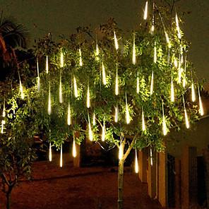 ieftine Proiectoare Mini Laser-4 pachete 50cm x10 20 inch lămpile de ploaie de duș 540 led cadere de ploaie lumini pentru petrecerea de sărbătoare de Crăciun decorarea copacului de Crăciun impermeabil