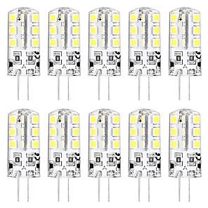 ieftine Spoturi LED-10pcs 3 W Becuri LED Bi-pin 3000 lm G4 T 24 LED-uri de margele SMD 2835 Model nou Alb Cald Alb 12 V