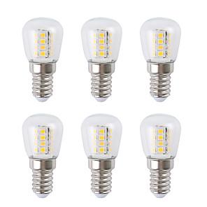 ieftine Cabluri Ethernet-6pcs 3 W Bulb LED Glob 300 lm E14 26 LED-uri de margele SMD 2835 Alb Cald Alb 220-240 V