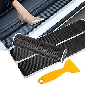 ieftine Huse de Scaun & Accessorii-autoturism ușă auto fibră de carbon autoturism paravan ușă protector autocolant anti-zgârietură prag protecție accesorii auto
