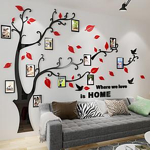 voordelige Wanddecoratie-Bloemenmotief / Botanisch Muurstickers 3D Muurstickers Decoratieve Muurstickers, Acryl Huisdecoratie Muursticker Wand Decoratie 1pc / Verstelbaar