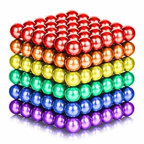 povoljno Igračke s magnetom-125-1000 pcs 5mm Magnetne igračke Magnetske kuglice Kocke za slaganje Snažni magneti Magnetska igračka Magnet Chic & Moderna Visoka kvaliteta Dječji / Odrasli Dječaci Djevojčice Igračke za kućne