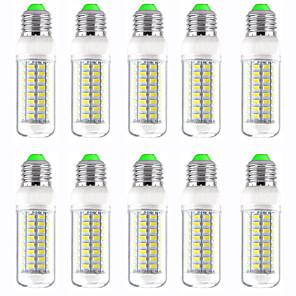 povoljno LED klipaste žarulje-10pcs 12 W LED klipaste žarulje 1200 lm E14 GU10 B22 T 72 LED zrnca SMD 5730 New Design Toplo bijelo Bijela 220-240 V 110-120 V
