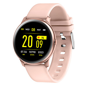 ieftine Colier la Modă-kw19 smart watch bt fitness tracker support notificare / monitorizare ritm cardiac sport bluetooth smartwatch compatibil telefoane ios / android